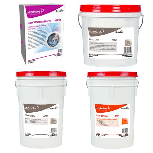 Diversey Care Clax Manual Dose Laundry Powders and Bleaches